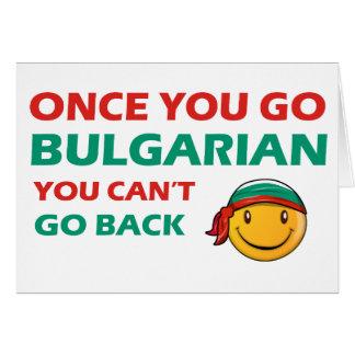 Bulgarian designs card