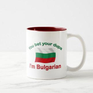 Bulgarian Dupa (with flag) Two-Tone Coffee Mug