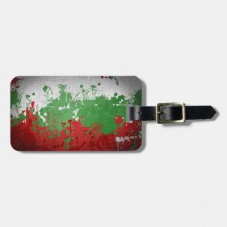 Bulgarian Flag Artistic Luggage Tag
