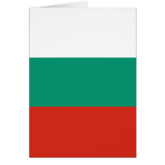 Bulgarian Flag Card