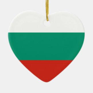 Bulgarian Flag Ceramic Ornament