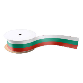 Bulgarian flag ribbon satin ribbon