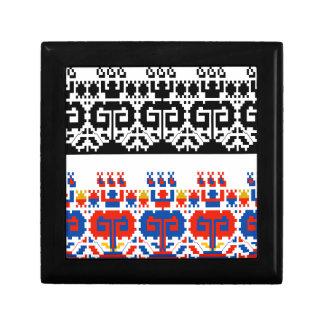 Bulgarian folk art pattern gift box