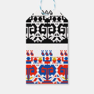 Bulgarian folk art pattern gift tags