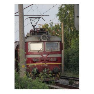 Bulgarian Freight Train Postcard