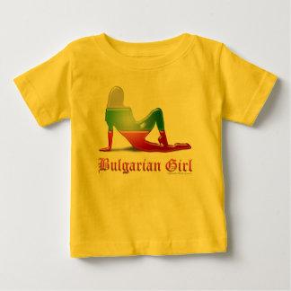 Bulgarian Girl Silhouette Flag T-shirts