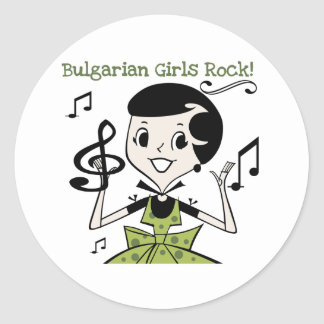 Bulgarian Girls Rock Classic Round Sticker