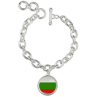 Bulgarian glossy flag charm bracelets