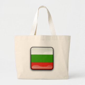 Bulgarian glossy flag large tote bag