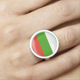 Bulgarian glossy flag rings