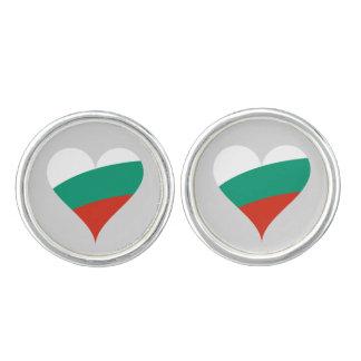 Bulgarian heart cufflinks