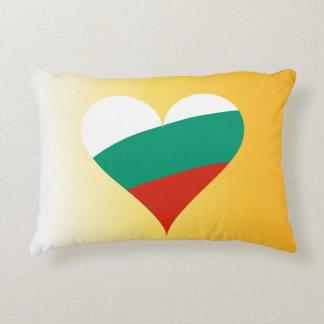 Bulgarian heart decorative pillow