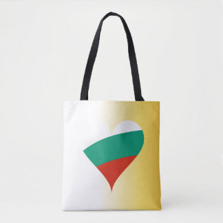 Bulgarian heart tote bag