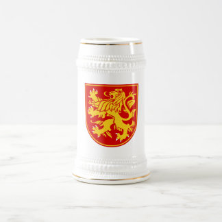 Bulgarian Lion Shield White+Gold Beer Stein