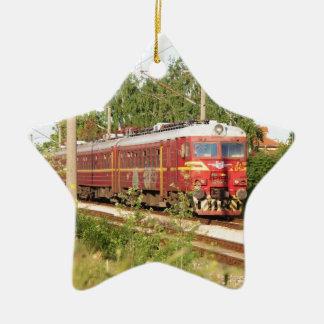 Bulgarian Passenger Train Ceramic Ornament