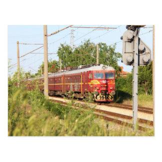 Bulgarian Passenger Train Postcard