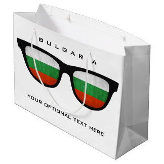 Bulgarian Shades custom text & color gift bag