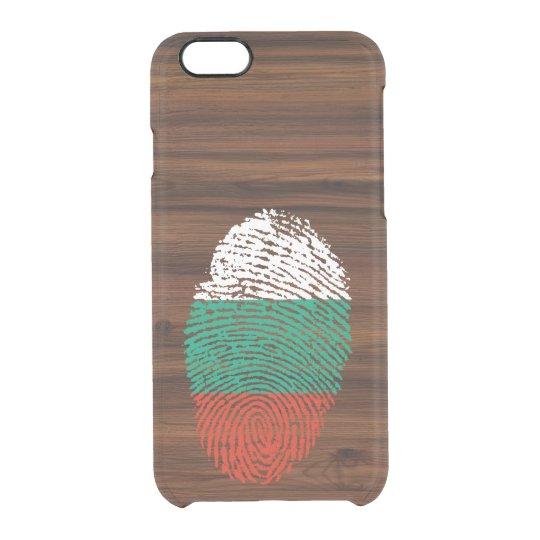 Bulgarian touch fingerprint flag clear iPhone 6/6S case