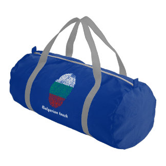 Bulgarian touch fingerprint flag gym bag