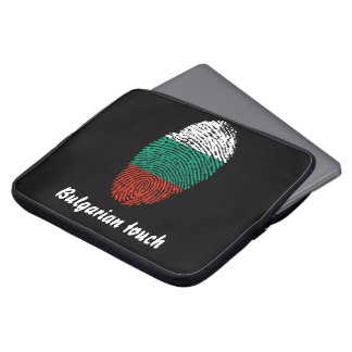 Bulgarian touch fingerprint flag laptop sleeve