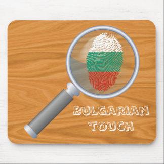 Bulgarian touch fingerprint flag mouse pad