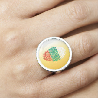 Bulgarian touch fingerprint flag rings