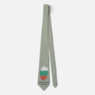 Bulgarian touch fingerprint flag tie