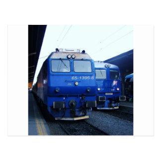 Bulgarian Train. Postcard