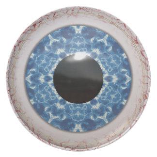 Bulging Bloodshot Blue Eye Dinner Plates