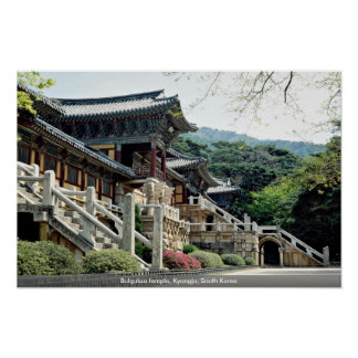 Bulguksa temple, Kyongju, South Korea Poster