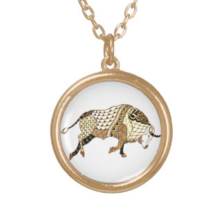 Bull 1 gold plated necklace