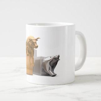 Bull And Bear Economic Trends Large Coffee Mug