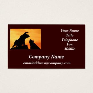 Bull and Bear Financial Markets business card