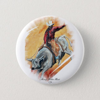 BULL AND RIDER 2 INCH ROUND BUTTON