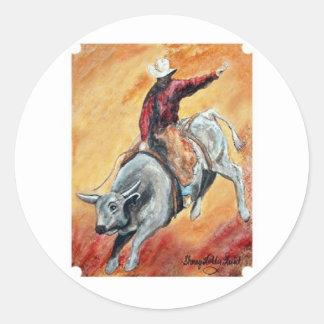 Bull and Rider Sticker