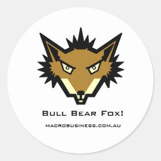 Bull Bear Fox Neo Reynard Sticker
