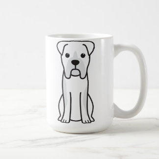 Bull Boxer Dog Cartoon Coffee Mug