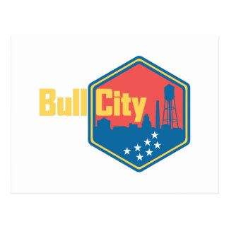 Bull City NC Postcard