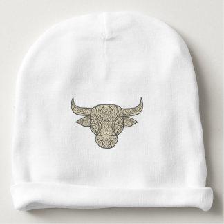 Bull Cow Head Front Mandala Baby Beanie