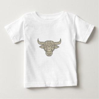 Bull Cow Head Front Mandala Baby T-Shirt