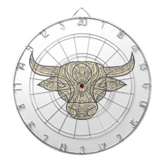 Bull Cow Head Front Mandala Dartboard