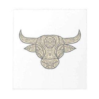 Bull Cow Head Front Mandala Notepad