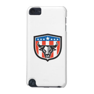 Bull Cow Head USA Flag Crest Low Polygon iPod Touch 5G Cases