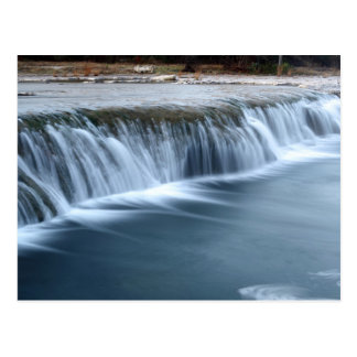 Bull Creek Waterfall, morning in Austin Texas Postcard