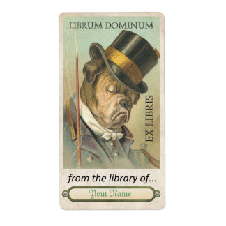 Bull Dog - Book Plate ID Shipping Label