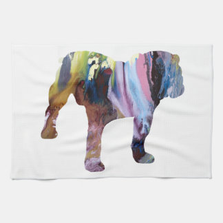 Bull dog kitchen towel