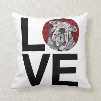 Bull DOg LOVE Pillow Home Decor
