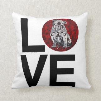 Bull Dog LOVE+WOOF Pillow Home Decor