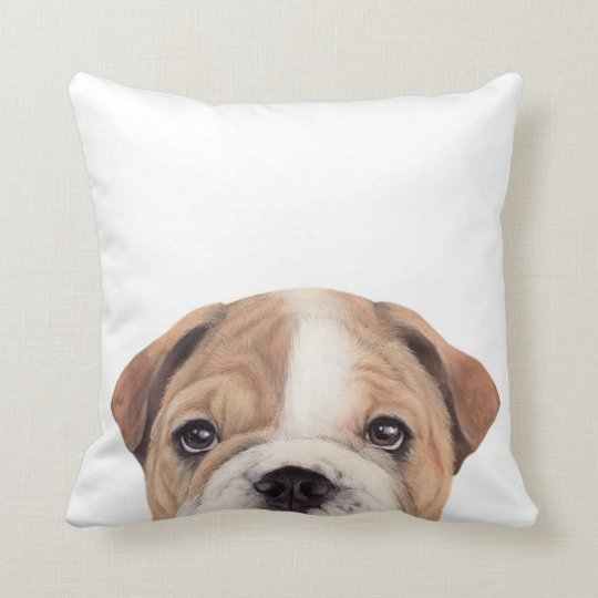 Bull Dog original painting and design Pillow