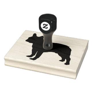 "Bull Dog Rubber Stamper, 4"" x 5"" Rubber Stamp"